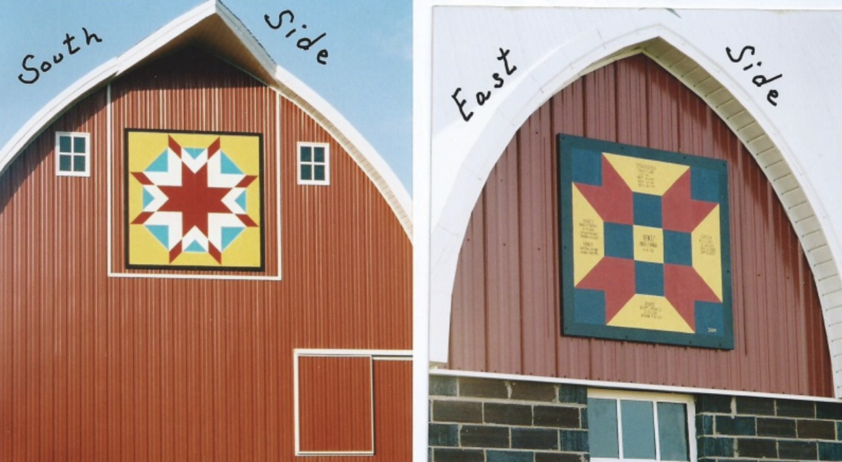 21. Arnold and Donna Bentz - (2 quilts) Harvest Star and Fence Post - 2188 220th St. Truman MN 56088